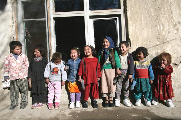 Smiling Afghani Children