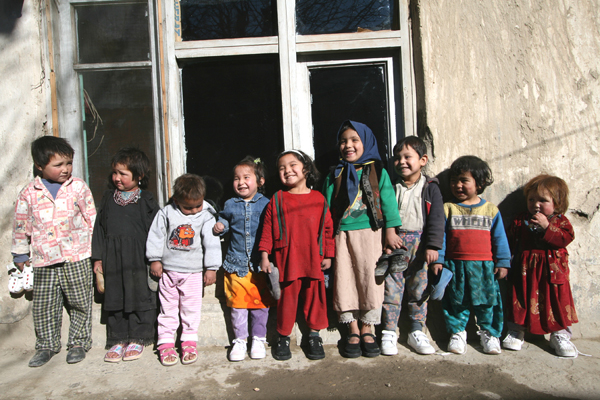 Smiling Afghani Children