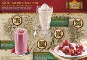 Picture of a Denny's Breakfast Menu that includes QR Codes
