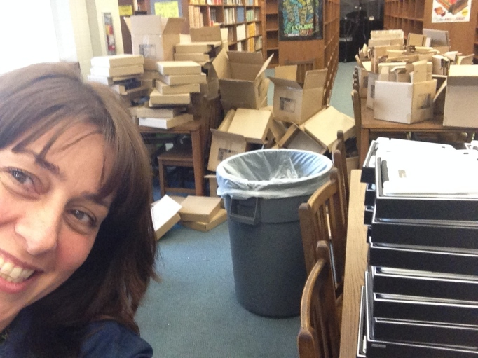 Selfie with empty boxes in Media Center