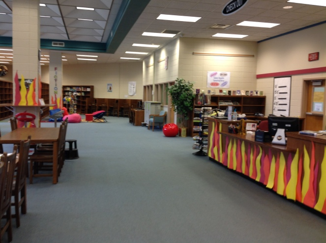 Taking inspiration from Bradbury's Fahrenheit 451, we set our media center ablaze for Banned Books Week.