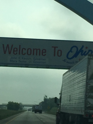 Ohio, we love you, even if your traffic was brutal.