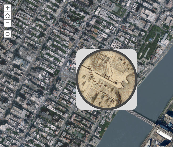 Screen Shot of Interactive Map of NYC