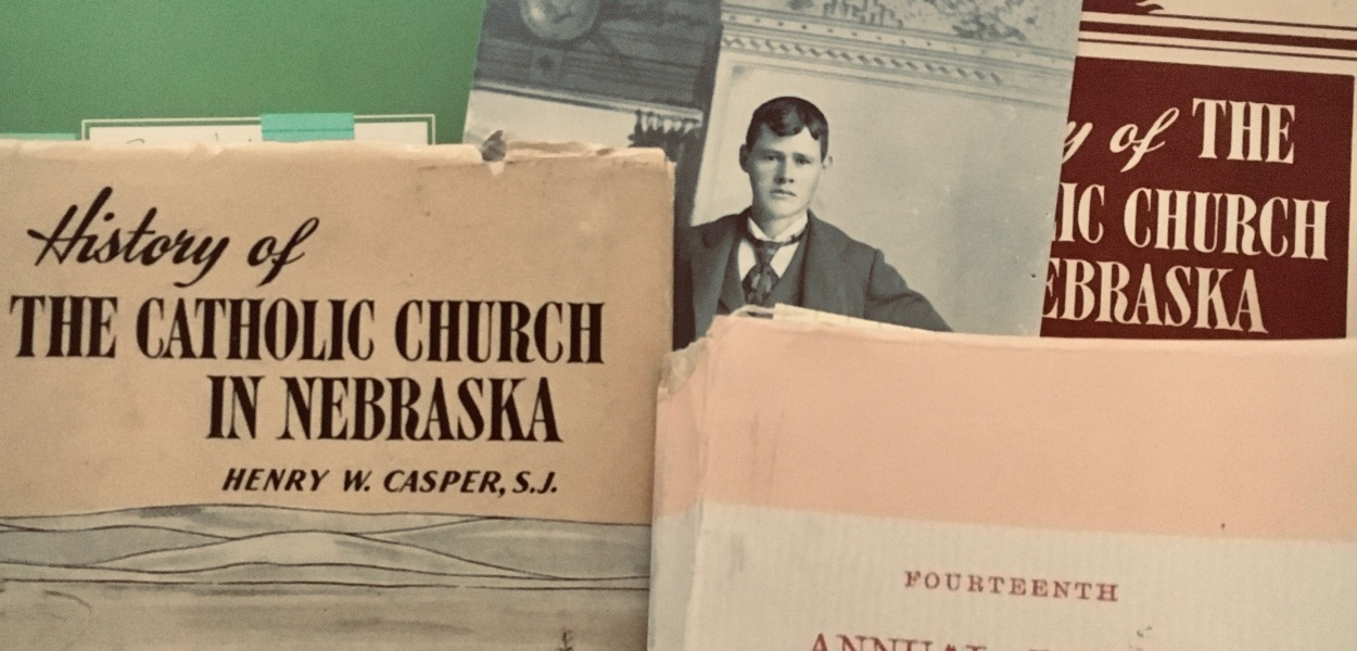 History books and a picture of my ancestor.